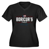 Boricuas Finest Light Women's Plus Size V-Neck Dar