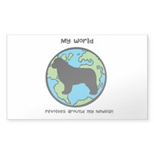 My World Revolves a... Decal