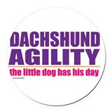 Dachsday.png Round Car Magnet