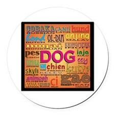 DOG.png Round Car Magnet