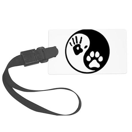 Human & Dog Yin Yang Large Luggage Tag