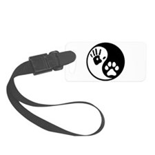 Human & Dog Yin Yang Luggage Tag