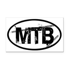 MTB Oval Rectangle Car Magnet
