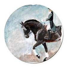 dressage1.tif Round Car Magnet