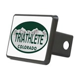 Triathlete Oval Colo License Plate Hitch Cover