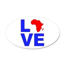Love Africa Oval Car Magnet