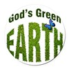 God's green Earth Round Car Magnet