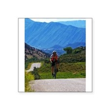 "Cycling the Rockies Square Sticker 3"" x 3"""