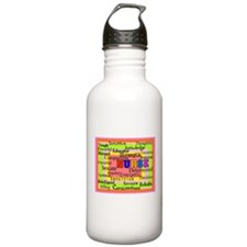 Nurse Blanket oranges.PNG Sports Water Bottle