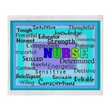 Nurse Blanket Blues Greens.PNG Throw Blanket