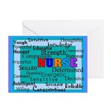 Nurse Blanket blue.PNG Greeting Cards (Pk of 10)