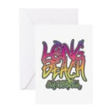Long Beach Graffiti Greeting Card
