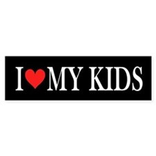 I Heart My Kids: Bumper Sticker