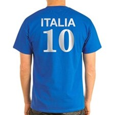 Italia Forza Azzurri 2 side print T-Shirt