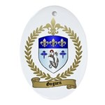 GOGUEN Family Crest Oval Ornament