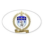 GOGUEN Family Crest Oval Sticker
