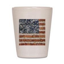 Van Gogh USA Flag Shot Glass