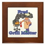 Grill Master Fred Framed Tile