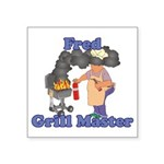 Grill Master Fred Square Sticker 3