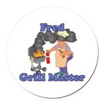 Grill Master Fred Round Car Magnet