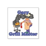 Grill Master Gary Square Sticker 3
