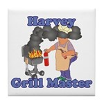Grill Master Harvey Tile Coaster