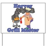 Grill Master Harvey Yard Sign