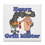 Grill Master Henry Tile Coaster