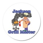 Grill Master Jackson Round Car Magnet