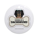 Owned by a Dachshund Ornament (Round)