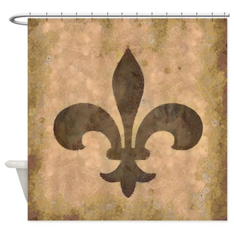 Fleur de lis shower curtain by oneworldgear - Fleur de lis shower curtains ...