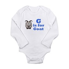 Cute Animal alphabet letters Long Sleeve Infant Bodysuit
