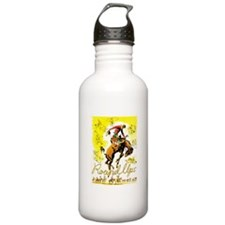 Old West Travel Poster 1 Water Bottle