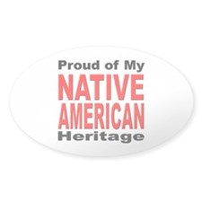Proud Native American Heritage Oval Decal