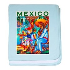 Mexico Travel Poster 3 baby blanket