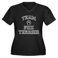 Team Fox Terrier Women's Plus Size V-Neck Dark T-S