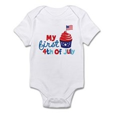 Cupcake First 4th of July Infant Bodysuit
