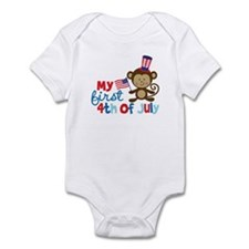 Monkey My First 4th of July Infant Bodysuit