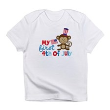 Monkey My First 4th of July Infant T-Shirt
