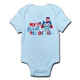 Owl My First 4th of July Infant Bodysuit