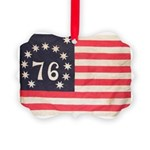 Flag of Bennington III.psd Picture Ornament