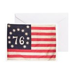 Flag of Bennington III.psd Greeting Cards (Pk of 1