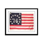 Flag of Bennington III.psd Framed Panel Print