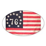 Flag of Bennington III.psd Sticker (Oval 50 pk)