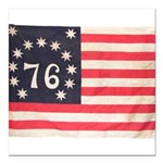Flag of Bennington III.psd Square Car Magnet 3