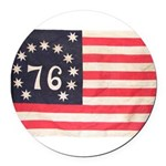 Flag of Bennington III.psd Round Car Magnet