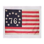 Flag of Bennington III.psd Throw Blanket