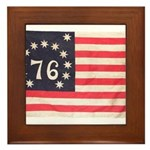 Flag of Bennington III.psd Framed Tile