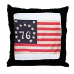 Flag of Bennington III.psd Throw Pillow