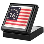 Flag of Bennington III.psd Keepsake Box